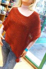 In merino tweed I love ! (sifis) Tags: knitting knit handknitting poncho wool merino yarn greece athens sakalak store