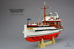 "Lake Union Dreamboat ""Vagabond"" (Markus ""Madstopper"" Ronge) Tags: lego woodenyacht wooden boat moc madstopper whalewatching orca scalemodel"