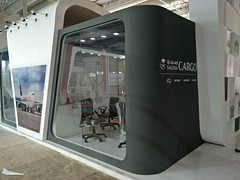 just about to complete the setup of Saudia Cargo, Air Cargo India 2018 (aircargoindia) Tags: aircargo aviation logistics freight supplychain shipping