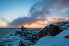 Lóndrangar (Þorkell) Tags: lóndrangar sun nikkorafs1635mmf4gedvr sunset nikond750 cliffs sjór snæfellsnes sea öldur clouds sólarlag snow waves iceland