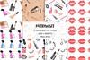 Watercolor Makeup Cosmetics Set (Bona Designs) Tags: planner sticker girl cosmetic clip art make up clipart eyeshadow watercolor lipstick hand painted digital beauty fashion makeup brushes salon parfume cosmetics set