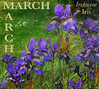 AMG Bookmark For March - Irises (virtually_supine) Tags: restore restorefleetmeadow restorefleetmeadowgarden amgmarchbookmark irises springflowers purple march spring didcot oxfordshire artisticmanipulation photomanipulation creative layers textures text words bright photoshopelements13mac crayon accentuatedoutlines painterly