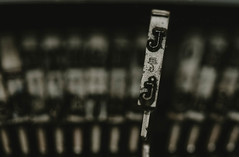 J... (Jess Feldon) Tags: typewriter typewriterkey lookslikefilm macro vintage closeup j letters font jessfeldon letter key bokeh dof depth jess