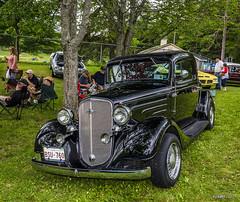 1934 Chevrolet 3 Window Coupe (kenmojr) Tags: 2017 antique atlanticnationals auto car classic moncton newbrunswick show vehicle vintage centennialpark kenmo kenmorris carshow nikon d7100 nikkor 18105 chevy 1934 chevrolet 3windowcoupe coupe hotrod streetrod black canada