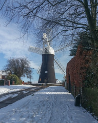 Holgate Windmill after snow, February 2018 - 09