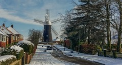 Holgate Windmill after snow, February 2018 - 10