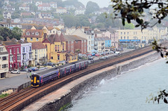 Dawlish Scene. (curly42) Tags: 153377 class153 dmu unit sprinter railway dawlish transport travel seaside gwr