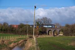 Bucolic Berkeley (Stapleton Road) Tags: class37 railway viaduct countryside farm fence brook