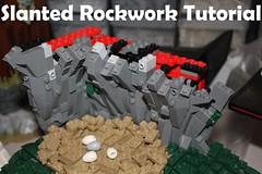 Slanted Rockwork Tutorial (soccersnyderi) Tags: lego moc rockwork cliff angled sloped tilted slanted design technique guide tutorial walkthrough