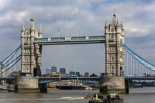 Tower Bridge, River Thames, London, UK