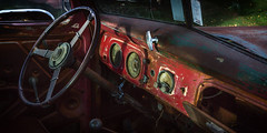 V8 (Grant Grieve. Off the grid.) Tags: v8 wreck car relic rust abandoned red