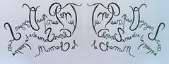 « Tu ne peux pas voyager sur un chemin, sans être toi même le chemin » (Calligraphy typography écriture speculaire) Tags: handwriting quotations quotation travel voyage reverse dessin quotes quote proverbe citation writing écriture typography typographie calligrafia calligraphy calligraphie art ecriture