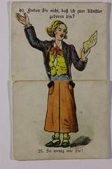 Karte 5 (gripspix (OFF)) Tags: fragantwortspiel josefscholzverlag mainz partygame tablegame gesellschaftsspiel vintage alt 19thcentury um1900 card karte example beispiel