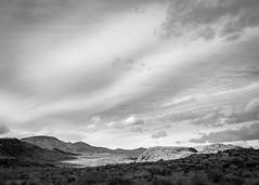 Gray Skies (dwblakey) Tags: california sky blackandwhite monochrome landscape easternsierra bishop mountains outdoors desert rocksdesert volcanictableland volcanictablelands monocounty unitedstates us