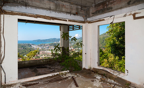 Abandoned resort over the Kata beach