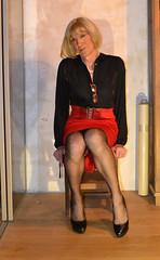 DSC_0037c (magda-liebe) Tags: crossdresser travesti french tgirl stockings fullyfashionedstockings highheels platform shoes skirt cervin