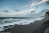 Étretat (juliegiovanelli) Tags: normandie étretat sea storm tempête vent vagues falaises beach plage galets ciel nuages mer