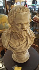 """SOCRATES"" PLASTER BUST BY PIETRO CAPRONI, BOSTON C. 1900.  $350. • <a style=""font-size:0.8em;"" href=""http://www.flickr.com/photos/51721355@N02/25755133678/"" target=""_blank"">View on Flickr</a>"