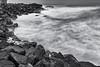 Seaham Rocks (robinta) Tags: mono blackwhite monochrome contrast longexposure sea rocks waves tide surf seascape seaham england pentax sigma ndfilter ks1 sigma1770 pentaxart ngc