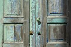 Blue green door (Jan van der Wolf) Tags: door deur decay old oud blue bluegreen green groen deurknop doorhandle 178438