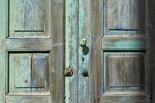 Blue green door