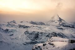 Matterhorn Sunset (mscgerber) Tags: 2017 switzerland schweiz suisse svizzera europe europa landscape landscapes landscapephotography nature naturephotography naturepicture view mountain mountains alps swissalps snow schnee matterhorn zermatt valais wallis sunset sunsets colors colorful nikon nikonphotography nikond3400
