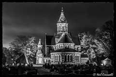 30/365 2018 St Pauls Church (crezzy1976) Tags: nikon d3300 nikkor1855 outdoors crezzy1976 photographybyneilcresswell photoaday afterdarkphotography nightphotography architecture building church gothic blackandwhite monochrome blackframe graveyard cloudysky 365 365challenge2018 day30 ellesmereport cheshire uk