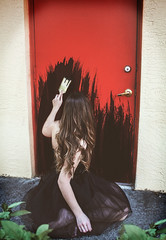 Paint it, black (Lisa Marie Gonzalez) Tags: photography photographer photoshop photoshopped photoshoot photomanipulation totalphotoshop dark moody edit edited model girl lady woman black paint red door darkart fineart fineartphotography conceptual conceptart manipulated manipulation composite composition pose fantasy surreal song outdoors outside