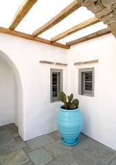 Turquoise corner (www.thalassinos.net) Tags: white wood wall window windows whitewall woodenroof entrance residence thalassinos traditional thalassinosarchitect timber turquoise yard island parosisland paros plaster pergola architect architecture summer door decoration detail greece holidays house holiday homedecor construction cyclades villa
