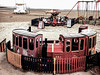 £1.50 A Ride (Steve Taylor (Photography)) Tags: £150 ride tokens margate barbie merrygoround train track carriage bell swan dog gordon lifeguards fence swing sand contrast muted uk gb england greatbritain unitedkingdom sea beach amusements