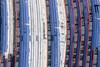Urban-Suburban Rail (Aerial Photography) Tags: by m obb 16022010 1ds38190 bahnbetriebswerk bahnverkehr baumkirchen eisenbahn fotoklausleidorfwwwleidorfde linien luftaufnahme luftbild munich münchen rot sbahn schienenfahrzeug truderingerstrase verkehr weis winter abstrakt aerial lines outdoor railway railwaytraffic red traffic white bayern deutschlandgermany deu