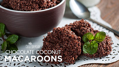 Chocolate Coconut Macaroons (Coco Treasure Organics) Tags: chocolatecoconutmacaroons coconutmacaroons food recipes macaroons dessert glutenfree