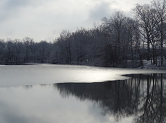 Winter Grays (nrg_crisis) Tags: winter ice lake clouds reflections gray
