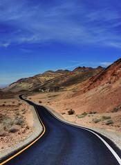 Follow the road (debamalya.chatterjee) Tags: landscape landscapephotography d7200 desert road mountain sky nikon