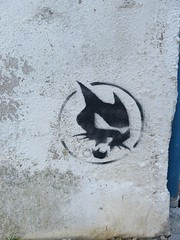 IMG_1893 (emilyD98) Tags: street art insolite rue mur wall st saint nazaire pochoir stencil urban explore exploration chat cat noir black