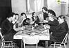 tm_2777 (Tidaholms Museum) Tags: svartvit positiv 1957 interiör kaffebjudning snickeriverkstad gruppfoto