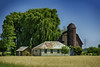 Michigan Thumb Farm in HDR (TAC.Photography) Tags: farm barn buildings rural country wheat golden fields farming tree trees willow willowtree weepingwillow harvest goldenwheat tacphotography d7100 tomclarknet