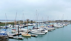Northney Marina (Roy Richard Llowarch) Tags: haylingisland northney langstone northneymarina marina marinas hampshire hampshireengland islands britishisles thebritishisles england winter water creek creeks swearedeep boat boats yacht yachts boating yachting sail sailing fishing royllowarch llowarch royrichardllowarch cloud cloudy clouds pontoon pontoons outdoor sea seaside coastal harbours habors harbor harbour sailor sailors seascape seascapes grass trees green white blue brown southcoast southcoastofengland watersport watersports pastimes