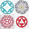 collage2017161 (regolo54) Tags: hyperbolic geometry symmetry mathart regolo54 circle disk tessellation tiling escher