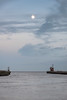 Gorleston Harbour At Dusk (Number Johnny 5) Tags: d750 nikon sunset pier port moon space mouth dusk imanoot river documenting sky empty clouds moonrise johnpettigrew harbour
