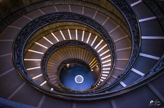 La scala a doppia spirale elicoidale dei Musei Vaticani