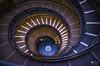 La scala a doppia spirale elicoidale dei Musei Vaticani (lulo92) Tags: roma rome spiral circle geometric ladder scale lazio travel blu building light nikon top samyang blue art beauty beautyful vaticano vatican museum