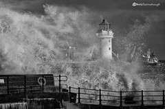 CO1A6088 (chris fearnehough) Tags: lighthouse storm stormchaser wirral newbrighton perchrock waves