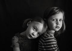 Chapped winter twins (trois petits oiseaux) Tags: twins blackandwhite monochrome sisters childhood kids family