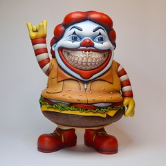 Burger Boy (Jared Circusbear) Tags: burger boy ronald mcdonald mc supersized mcdonalds hamburger cheeseburger clown custom toy customtoy vinyltoy designertoy fanart popart collectible figure sculpture painting miniature handmade munny dunny kidrobot funko illustration