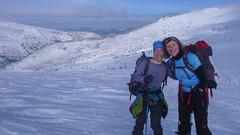 Najlepszy zespół żenski - Iwona i Ola.  Przełęcz Pohane Misko, wysokość 1770m, zawody. Dzień 2. (Tomasz Bobrowski) Tags: skitouring narty białysłoń skitury góry czarnohora ski mountains skitura