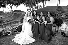 Ashley & Steffen Wedding 01:27:18 30 B&W (JUNEAU BISCUITS) Tags: wedding bride bridalparty bridesmaid weddingparty hawaiiphotographer hawaiianwedding kapoleigolfcourse portrait portraiture nikon nikond810