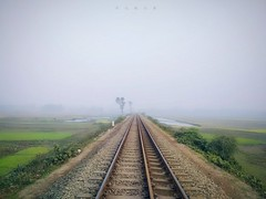The Junction (2) (maksudulpunom) Tags: railway railline rail junction bangladesh train xiaomi landscape way village