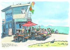 2017-02 Fitzroy Lifesaving Club WC (gnyp) Tags: new plymouth zealand taranaki fitzroy surf club beach lifesaving kiosk
