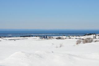 Paysage d'hiver à Rimouski.